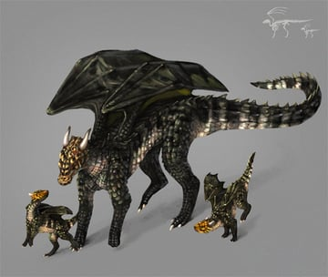 photoshop painting learning animals dragon