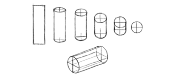 how to draw cylinder perspective 3d