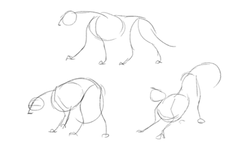 how to draw animal depth perspective sketch