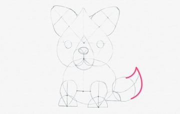 how to draw fox tail done