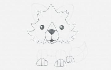 draw cartoon paws done