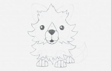 draw cartoon mane fox