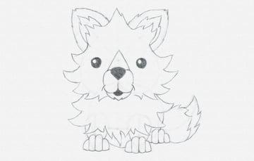 draw cartoon fox tail