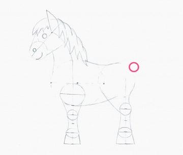 draw pony tail base