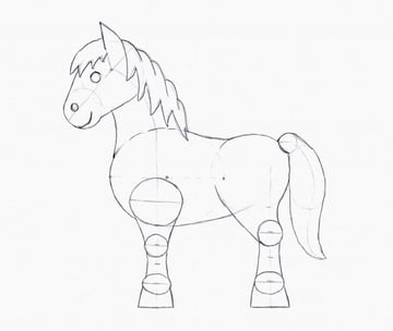 draw pony layers outlines