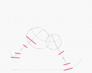 draw a pony legs joints width