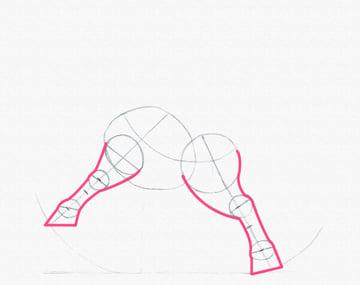 draw a pony legs done