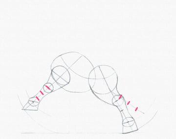 draw a pony legs bent divide