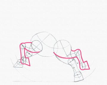 draw a pony legs bend done