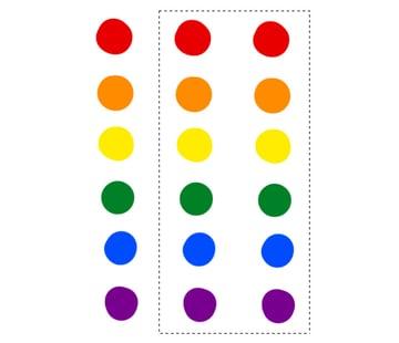 digital painting create color scheme rainbow shceme darken