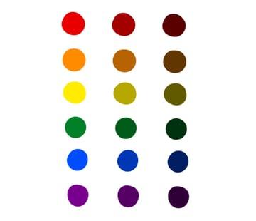 digital painting create color scheme rainbow set ready
