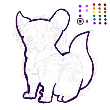 digital painting creature outline