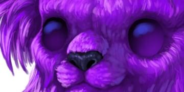 digital painting creature eyes shine sky