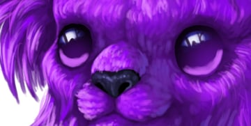 digital painting creature eyes reflected light
