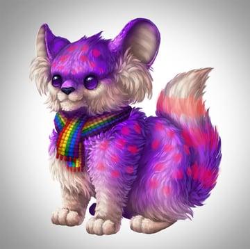 digital painting creature fur markings select