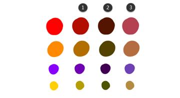 color scheme light shadow