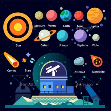 space icon colorful set download