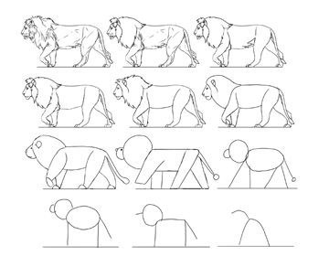how to simplify animals style