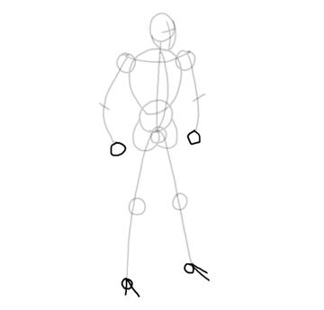 draw vector deadpool photoshop hands feet