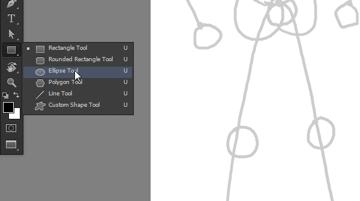 draw vector deadpool photoshop ellipse tool
