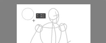 draw vector deadpool photoshop draw circle