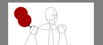 draw vector deadpool photoshop duplicate shape