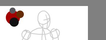 draw vector deadpool photoshop color scheme