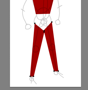 draw vector deadpool photoshop simple legs