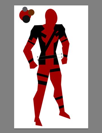 draw vector deadpool photoshop straps