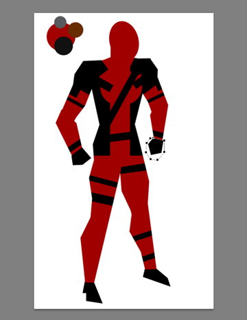 draw vector deadpool photoshop gloves shoes