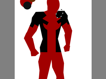draw vector deadpool photoshop torso strap holder