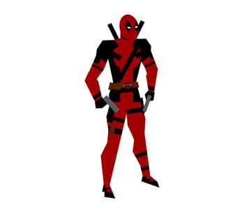 draw vector deadpool photoshop full costume silhouette