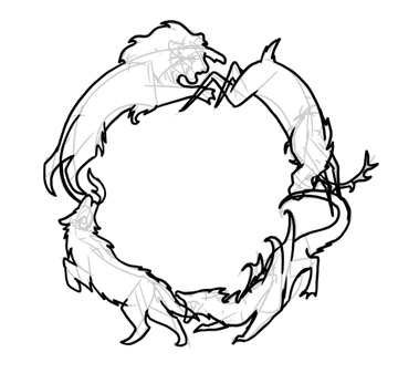 how to draw hard outlines