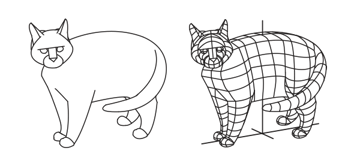 optical illusions how to daw wireframe digital drawing