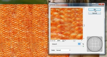 how to use spherize filter