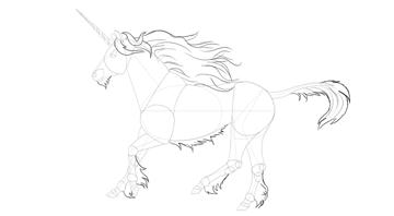 how to draw unicorn mane