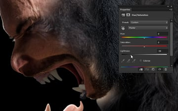 how to adjust shading in photo manipulation