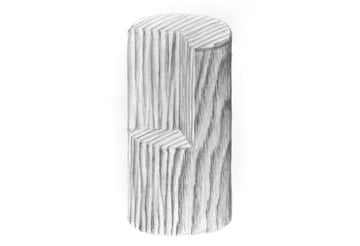 how to shade a woden cylinder