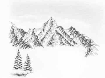 how to draw snow ground