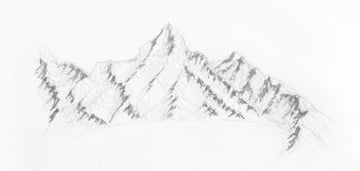 how to draw dark parts of the mountains