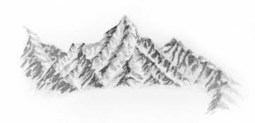 how to draw details on mountains