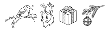 how to draw simple winter christmas illustration