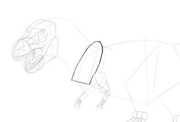 how to draw dinosaur shoulders