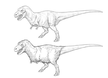 how to draw t rex step by step from scratch
