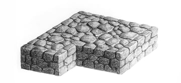 how to draw realistic stone castle wall with pencil