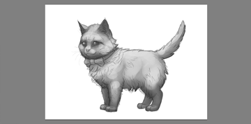 how to shade a kitten in photoshop