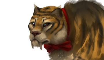 draw tiger face