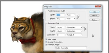 how to make image bigger in photoshop