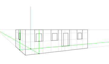 how to define roof height in perspective