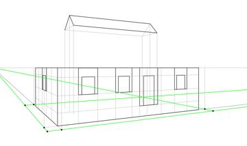 perspective roof corners